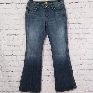 7 For All Mankind Distressed A Pocket Flare Jeans
